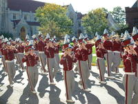 Heather in the IUP Marching Band