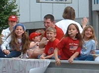 Heather's sisters in the Memorial Day parade (5/27/02)