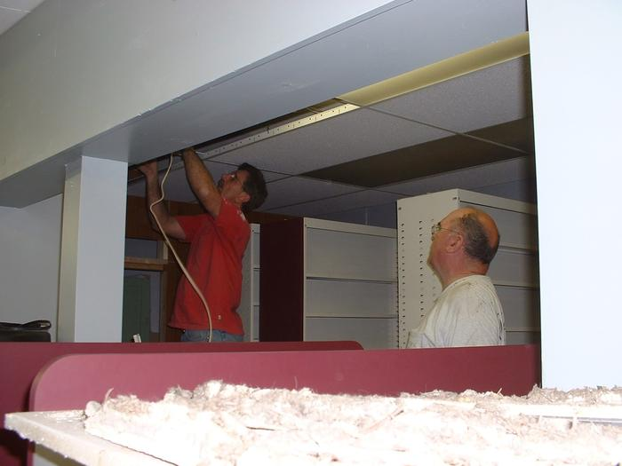 Dad and Rick, let there be light, 6/1/02