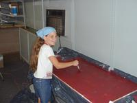 6-15-02, Ashlyn painting workstation dividers