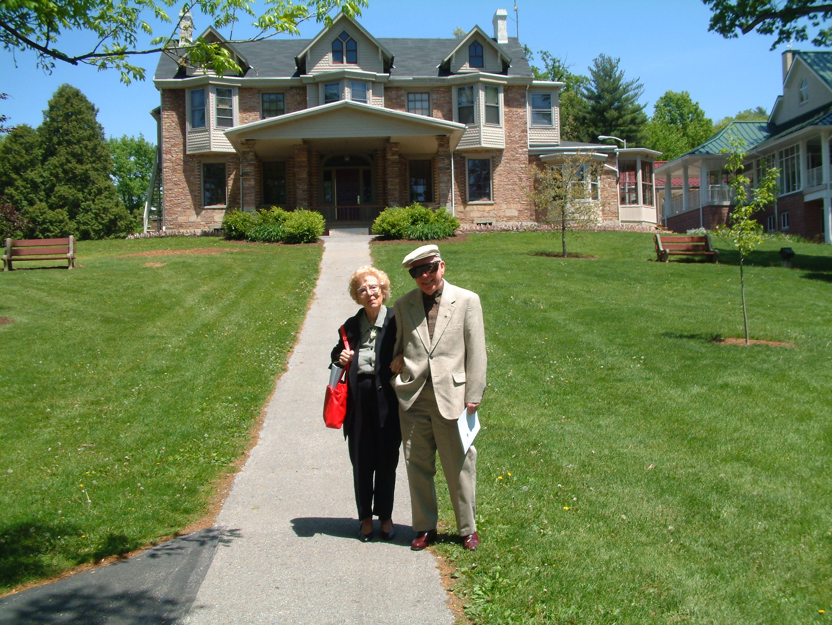Mike's Grandparents with Wiestling Hall, PSU's oldest building!
