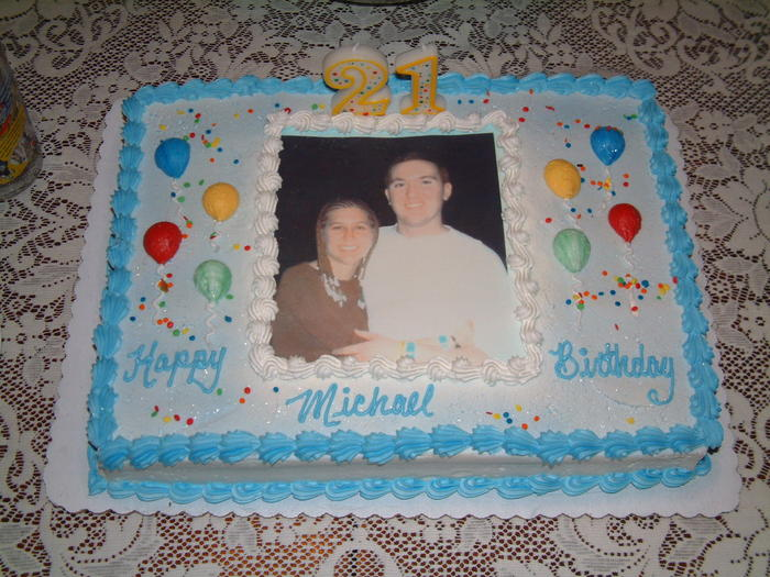 Mike's 21st Birthday Cake, photo from Cancun Spring Break 2002