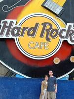 Mike and Heather at Hard Rock Cafe
