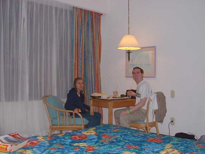 Mike & Heather with the room service