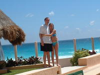 Excellent pic of Mike and Heather in Cancun