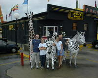 The group next to the zebras