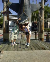 Glenn & Christina with Jaws! AHHH!