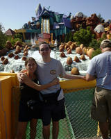 Mike & Heather near water ride