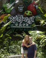 Mike & Heather at Rainforest Cafe, Animal Kingdom
