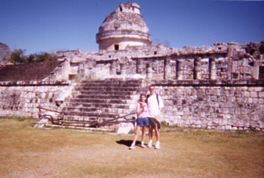 Next to the Mayan astrological observatory