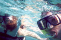 A romantic snorkel together in Cancun