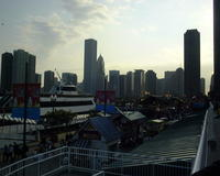 Chicago from the ferris wheel at Navy Pier