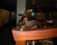 Derek on the boat at the Museum of Science & Industry