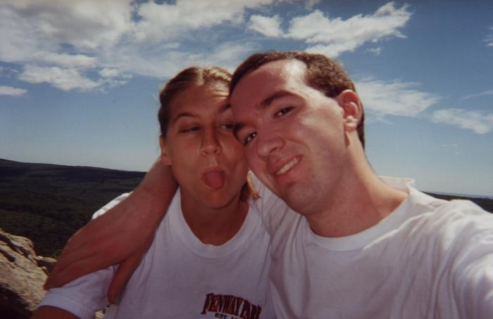 July 2000: Mike and Heather on the trail