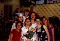 June 2000: Heather and friends after graduation
