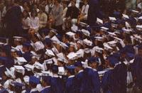 June 2000: Heather looking up from her graduation