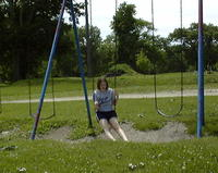 June 2: Amanda on the swings (Illinois)