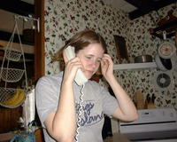 June 2: Amanda on the phone with her sister Ellie (Illinois)