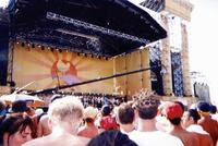 July 1999: One of the Woodstock 99 stages