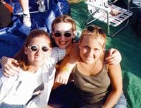 June 1999: Heather and friends at Creation