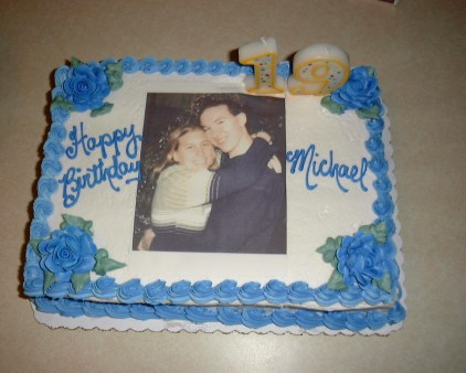 March 2000: Michael's birthday cake