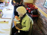 Meeting Great-Grandma Howis for the first time.