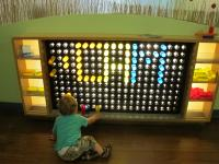 """CAM"" on a giant Lite-Brite."