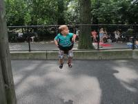 Swinging in Central Park.