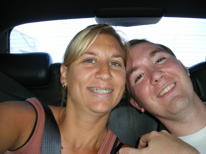 Heather & Mike on the way to Dulles Airport