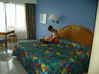 Heather in our room.