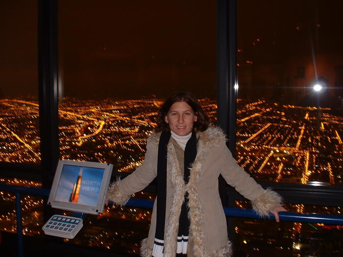 Heather in Sears Tower