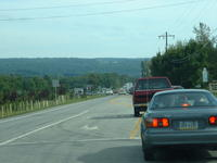 Line of cars, coming back from IUP